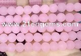 CCN6372 15.5 inches 6mm, 8mm, 10mm & 12mm round matte candy jade beads