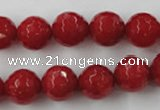 CCN756 15.5 inches 4mm faceted round candy jade beads wholesale