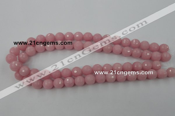 CCN820 15.5 inches 12mm faceted round candy jade beads wholesale