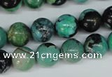 CCO144 15.5 inches 12mm round dyed natural chrysotine beads