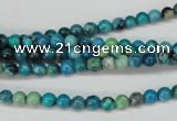 CCO160 15.5 inches 4mm round dyed natural chrysotine beads
