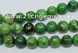 CCO302 15.5 inches 8mm round dyed chrysotine beads wholesale