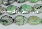CCO39 15.5 inches 13*18mm flat teardrop natural chrysotine beads