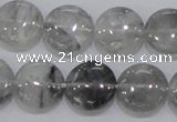 CCQ118 15.5 inches 15mm coin cloudy quartz beads wholesale