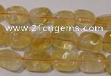 CCR218 15.5 inches 9*13mm nuggets natural citrine gemstone beads