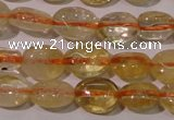 CCR228 15.5 inches 6*9mm oval natural citrine gemstone beads