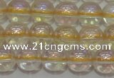 CCR301 15.5 inches 6mm round AB-color natural citrine beads