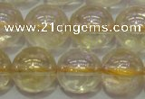 CCR303 15.5 inches 10mm round AB-color natural citrine beads
