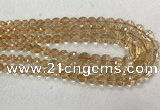 CCR328 15.5 inches 6mm - 10mm faceted round citrine graduated beads