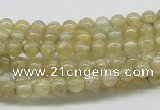 CCR80 15.5 inches 5mm round citrine gemstone beads wholesale