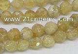 CCR83 15.5 inches 8mm faceted round citrine gemstone beads wholesale