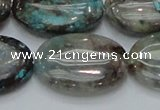 CCS10 15.5 inches 22*30mm oval natural chrysocolla gemstone beads