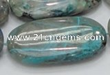 CCS12 15.5 inches 25*50mm oval natural chrysocolla gemstone beads