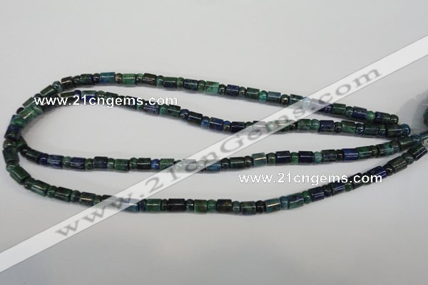 CCS152 15.5 inches 4*6mm rondelle & 6*7mm tube dyed chrysocolla beads