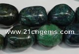 CCS158 15.5 inches 13*18mm – 15*20mm nuggets dyed chrysocolla beads