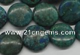 CCS161 15.5 inches 18mm flat round dyed chrysocolla gemstone beads