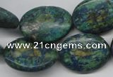 CCS168 15.5 inches 20*25mm oval dyed chrysocolla gemstone beads