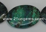 CCS169 15.5 inches 25*35mm oval dyed chrysocolla gemstone beads