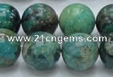 CCS17 15.5 inches 18mm round natural chrysocolla gemstone beads