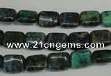 CCS175 15.5 inches 8*10mm rectangle dyed chrysocolla gemstone beads