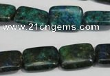 CCS176 15.5 inches 13*18mm rectangle dyed chrysocolla gemstone beads