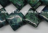 CCS179 15.5 inches 18*18mm diamond dyed chrysocolla gemstone beads