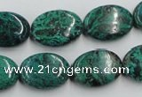 CCS235 15.5 inches 13*18mm oval natural Chinese chrysocolla beads