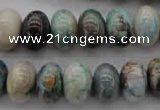 CCS27 15.5 inches 10*14mm rondelle natural chrysocolla gemstone beads