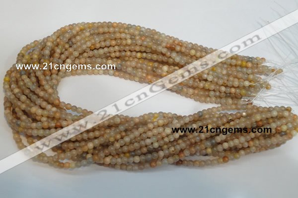 CCS301 15.5 inches 4mm round natural sunstone beads wholesale
