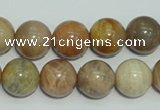 CCS306 15.5 inches 14mm round natural sunstone beads wholesale