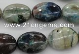 CCS35 15.5 inches 15*20mm oval natural chrysocolla gemstone beads