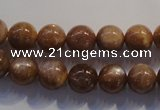 CCS353 15.5 inches 10mm round AB grade natural golden sunstone beads