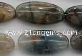 CCS36 15.5 inches 15*30mm oval natural chrysocolla gemstone beads