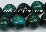 CCS407 15.5 inches 18mm round dyed chrysocolla gemstone beads
