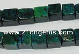 CCS420 15.5 inches 10*10mm cube dyed chrysocolla gemstone beads