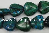 CCS424 15.5 inches 14*14mm heart dyed chrysocolla gemstone beads