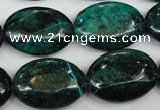 CCS446 15.5 inches 18*25mm oval dyed chrysocolla gemstone beads