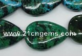 CCS456 15.5 inches 20*28mm flat teardrop dyed chrysocolla gemstone beads