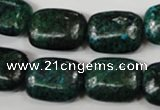 CCS475 15.5 inches 15*20mm rectangle dyed chrysocolla gemstone beads
