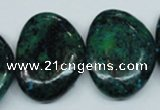 CCS482 15.5 inches 22*30mm freeform dyed chrysocolla gemstone beads