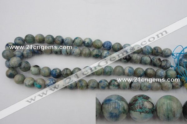 CCS504 15.5 inches 12mm round natural chrysocolla gemstone beads