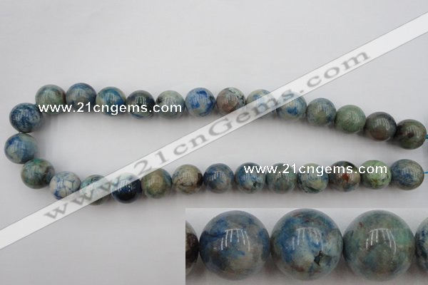 CCS506 15.5 inches 16mm round natural chrysocolla gemstone beads