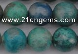 CCS515 15.5 inches 14mm round natural chrysocolla gemstone beads