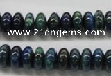 CCS53 16 inches 6*12mm rondelle dyed chrysocolla gemstone beads