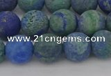 CCS543 15.5 inches 10mm round matte dyed chrysocolla beads