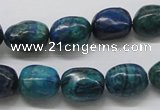 CCS58 16 inches 12*15mm nuggets dyed chrysocolla gemstone beads