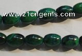CCS630 15.5 inches 8*12mm rice dyed chrysocolla gemstone beads