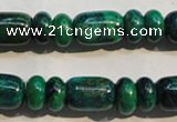 CCS645 15.5 inches 5*10mm rondelle & 10*14mm drum dyed chrysocolla beads