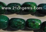 CCS647 15.5 inches 11*17mm nuggets dyed chrysocolla gemstone beads