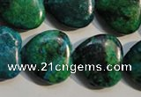 CCS654 15.5 inches 20*20mm heart dyed chrysocolla gemstone beads